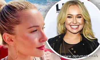 Hayden Panettiere is feeling 'grateful' as she takes a relaxing boat ride on a lovely sunny day