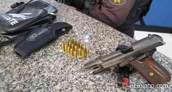 Homem é flagrado com pistola carregada em Volta Redonda - G1