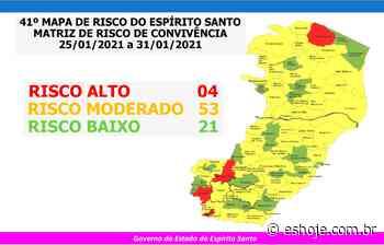 Bom Jesus do Norte, Guaçuí, Montanha e Muniz Freire em risco alto para Covid-19 - ES Hoje