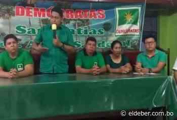 De la mano de Demócratas: Alcides Villagómez pugnará por la silla municipal de San Matías   EL DEBER - EL DEBER