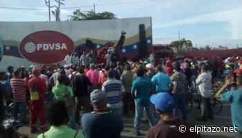 Trabajadores de Pdvsa protestan por bajos salarios en Ciudad Ojeda - El Pitazo