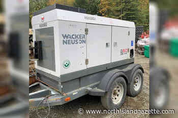 RCMP asking Vancouver Island residents to watch for stolen generator - North Island Gazette
