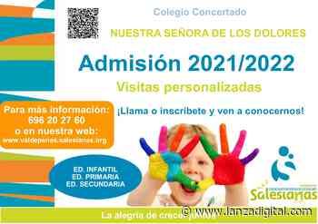 El colegio Nuestra Señora de los Dolores de Valdepeñas informa de su proceso de admisión de alumnos - Lanza Digital - Lanza Digital