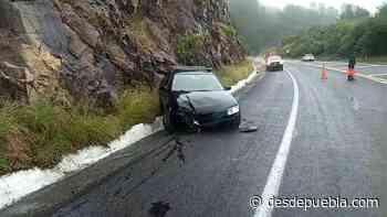 Aparatoso accidente en la Teziutlan-Virreyes deja una mujer lesionada - desdepuebla.com - DesdePuebla