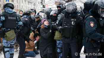 Auch Minderjährige in Gewahrsam: Tausende Nawalny-Anhänger festgenommen