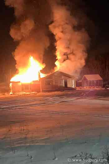 Updated: MR 80 now partially reopened after overnight house fire; home a 'total loss'