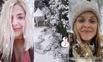 Breathtaking celebrity snow photos: Holly Willoughby, Princess Beatrice and more