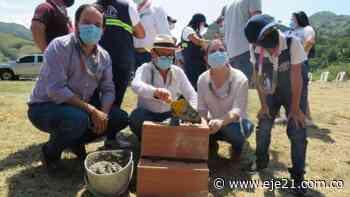 Primera piedra para la construcción del Parque Industrial y Comercial de Supía - Eje21