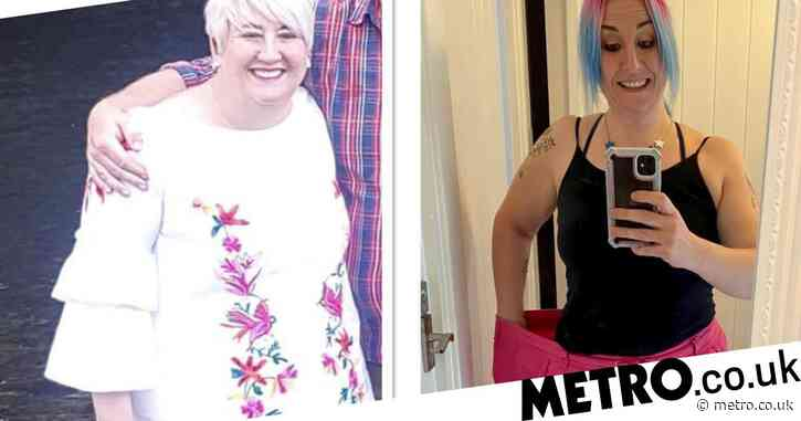 NHS worker loses seven stone after patients asking about her 'due date' left her mortified