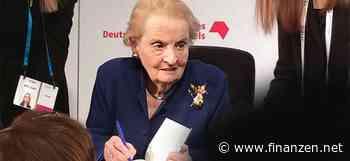 """Warnende Worte: Madeleine Albright: """"Meister der Propaganda""""   Nachricht   finanzen.net - finanzen.net"""