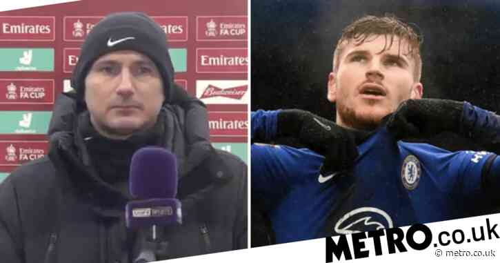 Frank Lampard defends Timo Werner after penalty miss in Chelsea's win over Luton Town
