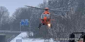 A3 Richtung Köln: Hubschrauber-Einsatz nach Autounfall - EXPRESS