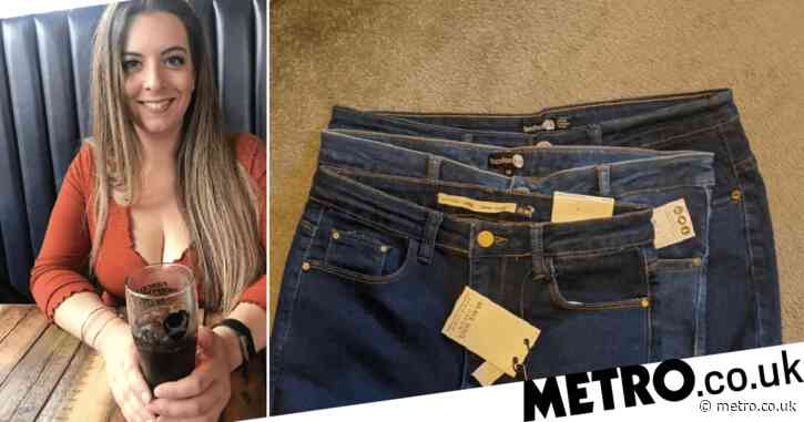 Mum says waist measurement for three pairs of size 16 Boohoo jeans is 'drastically different'