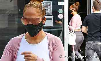 Jennifer Lopez flaunts her fabulous physique as she heads to the gym in Miami