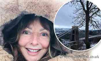 Carol Vorderman, 60, looks radiant as she goes makeup-free on a snowy stroll in Bristol