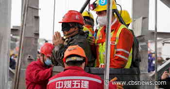 11 miners rescued from Chinese gold mine