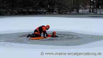 Eisige Rettungsübung