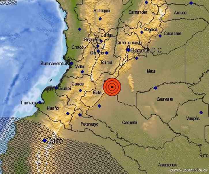 Tras sismo de magnitud 5,1 en Baraya, Huila, aún no se reportan afectaciones - La República
