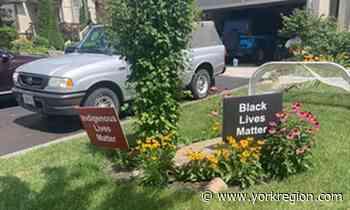 Crime Indigenous Lives Matter signs stolen, burned in Schomberg - yorkregion.com