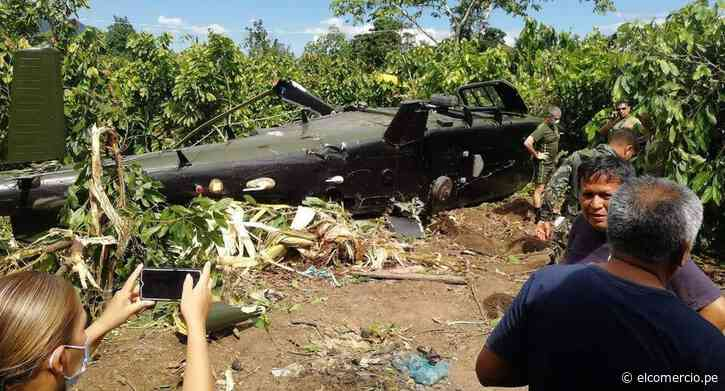 Junín: helicóptero del Ejército Peruano cayó en Mazamari y dejó varios heridos | VIDEO - El Comercio Perú