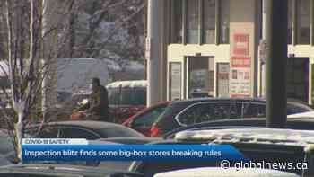 Inspection blitz finds some big-box stores breaking rules