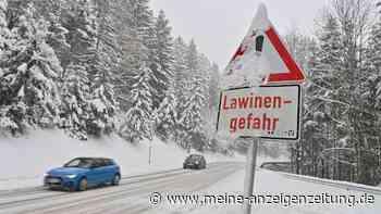 """Wetter: DWD-Warnungen für ganz Bayern - Lawinenlage """"erheblich"""" - zahlreiche Unfälle auf spiegelglatter Straße"""