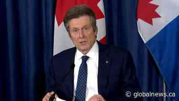 Coronavirus: John Tory reflects on 1 year since first COVID-19 case reported in Toronto