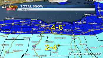 Yellow Alert issued for widespread snowfall Tuesday