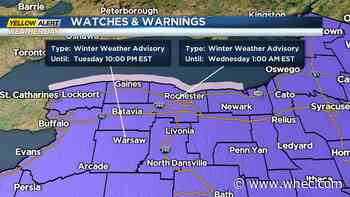 Yellow Alert Tuesday for area-wide snow