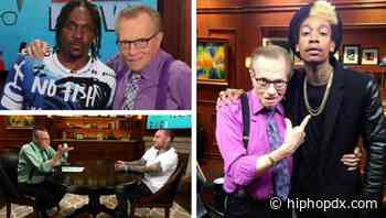 Remembering Larry King: Iconic Radio Host Dedicated Later Career To Grilling Rap Stars Wiz Khalifa, French Montana, Mac Miller & More
