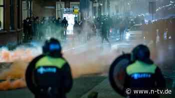Corona-Krawallen in zehn Städten: Unruhen in den Niederlanden gehen weiter
