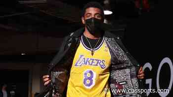 Kyrie Irving arrives at Nets game wearing Kobe Bryant jersey one day before anniversary of his death