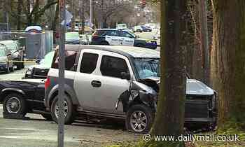 Man in SUV mounts sidewalk in Portland and injures six people, including woman in her 70s