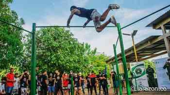 Con exhibición de 'Street Workout' se inauguró parque de calistenia en Montelíbano - LA RAZÓN.CO