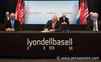 LyondellBasell et Sinopec créés une joint-venture pour la fabrication d'oxyde de propylène et de styrène monomère en Chine