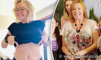 Rebecca Gibney shows off her incredible weight loss and reveals the secret behind her transformation