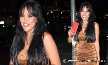 The Bachelor's Juliette Herrera shimmers in a bronze sequin dress for her birthday party