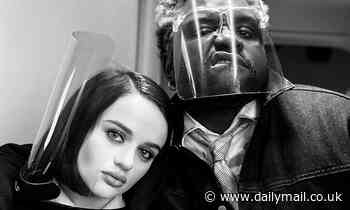 Joey King shares a selfie with costar Brian Tyree Henry from the set of their thriller Bullet Train