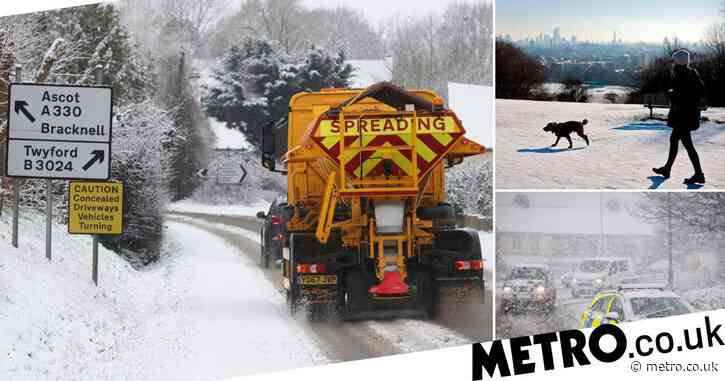 Up to 10cm of snow to hit parts of UK after 'snowiest spell' in two years