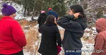 ¡Frío en Sonora! Tupida nevada cae sobre Nogales - ELIMPARCIAL.COM