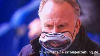 Bizarres Experiment! Rummenigge erklärt seine kuriose Taucherbrillen-Maske beim Schalke-Spiel