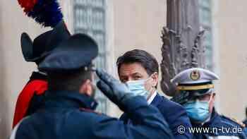 Machtpoker in Italien: Conte reicht Rücktritt ein