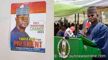 2023: Gov Bello's posters for president flood Dutse – The Sun Nigeria - Daily Sun