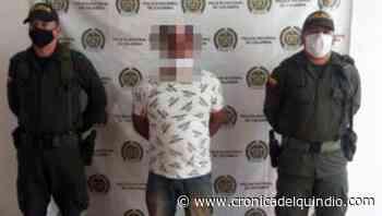 Hombre sindicado por homicidio fue detenido en la vía Armenia-Caicedonia - La Cronica del Quindio