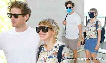 James Norton and Imogen Poots head home from the Venice Film Festival - Daily Mail