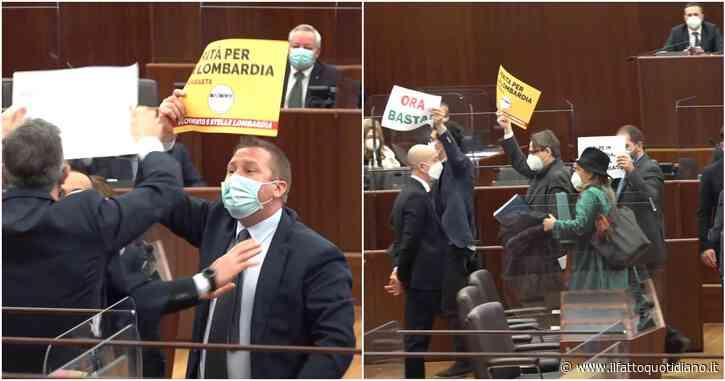 """Lombardia rossa """"per errore"""", ancora caos alla ripresa del consiglio regionale: cinque consiglieri M5s Pd espulsi. La minoranza abbandona l'Aula"""
