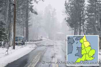 Met Office weather warning for London, Hertfordshire and Essex