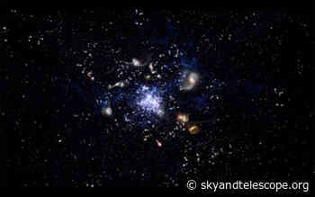 Astronomers Spot Galaxies Clustering in Early Universe