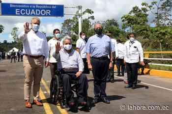 Los presidentes Moreno y Duque recorrieron el puente sobre el Río Mataje - La Hora (Ecuador)
