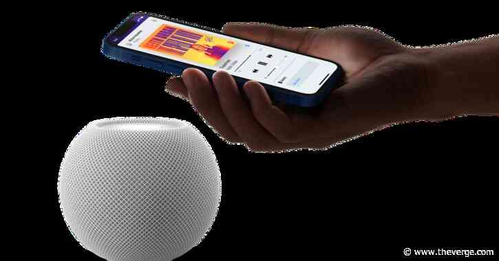 The HomePod mini finally adds its long-promised ultra-wideband handoff feature